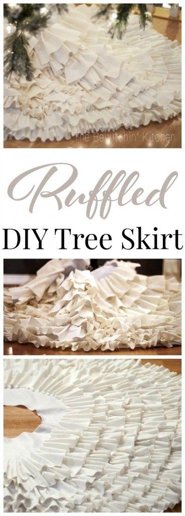 homemade chirstmas tree skirts