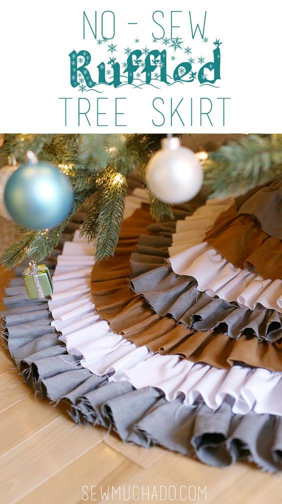 homemade chirstmas tree skirt