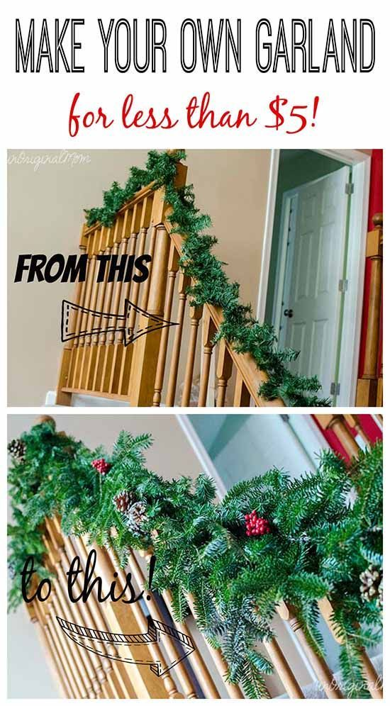 30 DIY Christmas Garland Ideas for Inexpensive Holiday ...