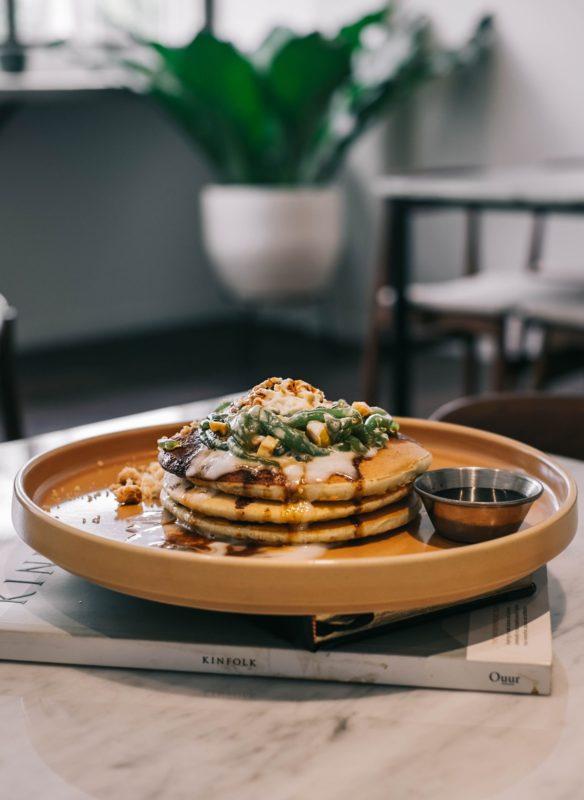 Hazelnut pancake breakfast