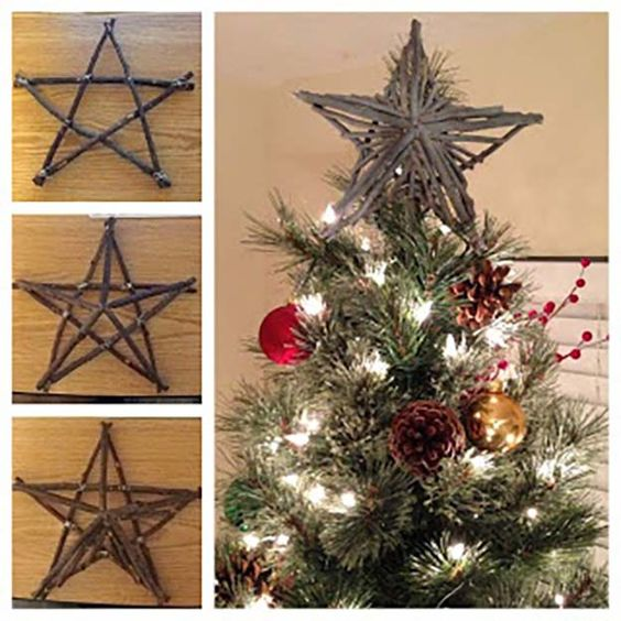 Rustic Christmas Tree Topper Ideas.23 Spectacular Diy Tree Toppers You Can Make Yourself