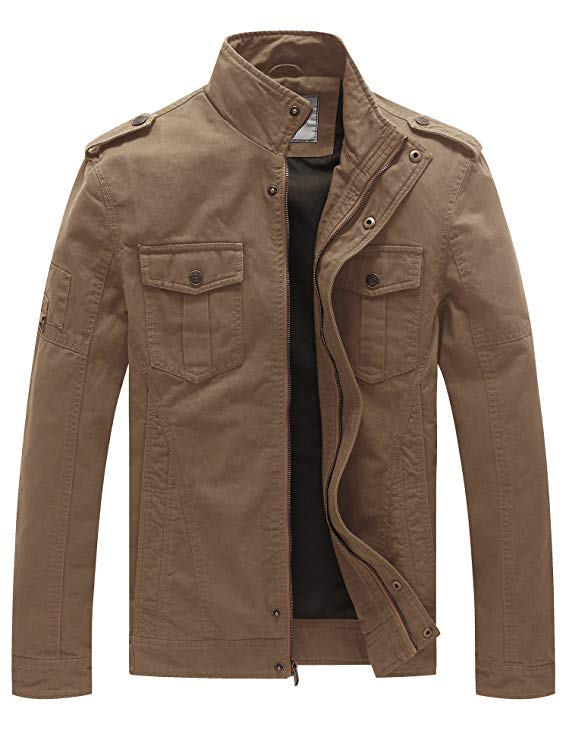 WenVen Men's Military Field Jacket