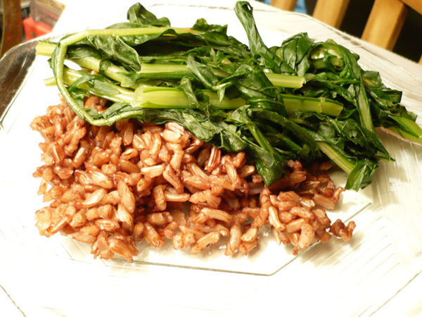 Dandelion greens on a plate