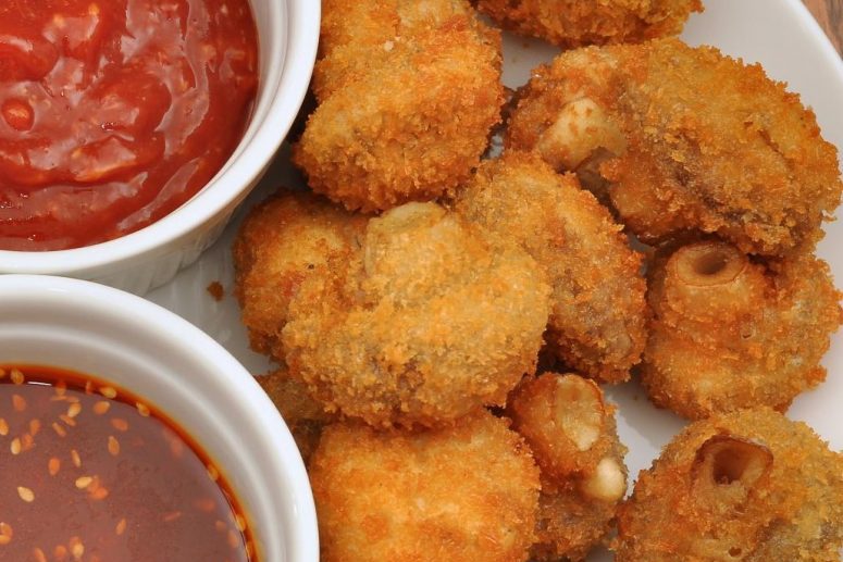 Air Fryer Breaded Mushrooms