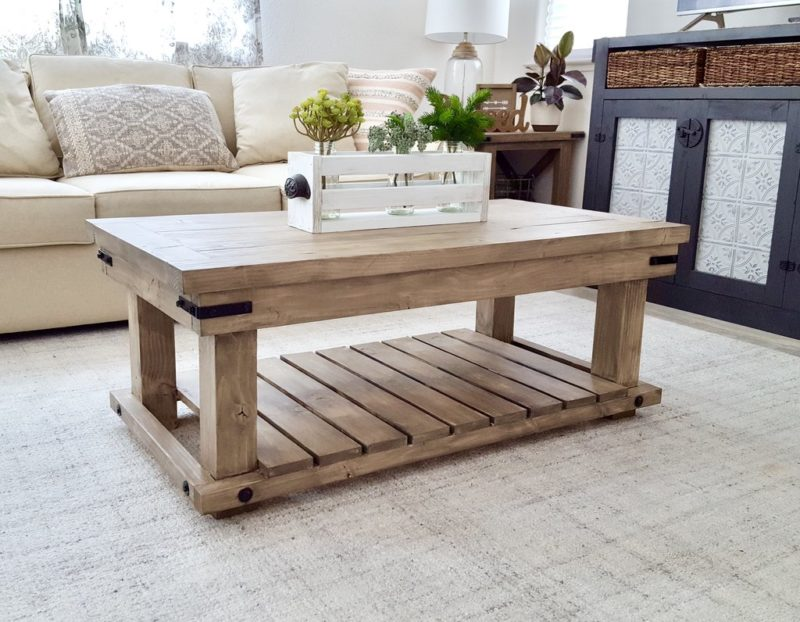Homemade Wooden Coffee Tables Easy