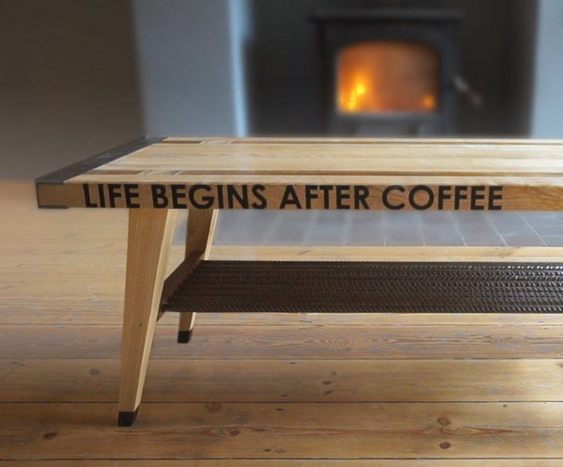Add A Funny Or Inspiring Quote To Your DIY Coffee Table So You Can Start  Your Day Off Right. For Example U201clife Begins After Coffeeu201d!