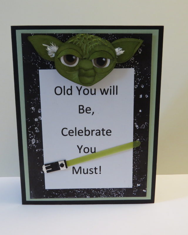 star wars DIY birthday card