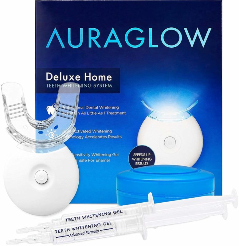AuraGlow Deluxe Teeth Whitening System