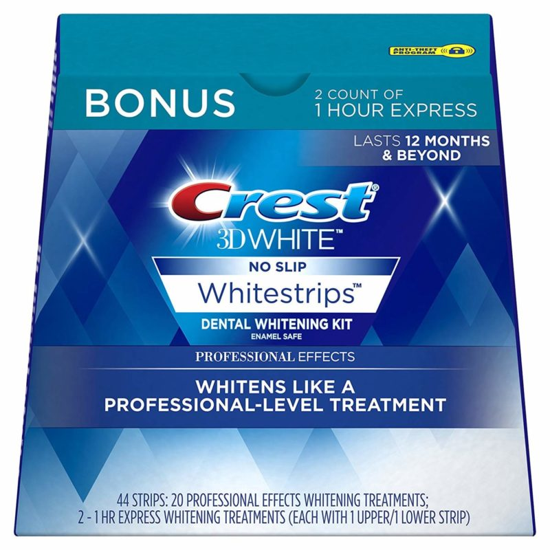 Crest 3D White Professional Effects Whitestrips Teeth Whitening Treatment Kit
