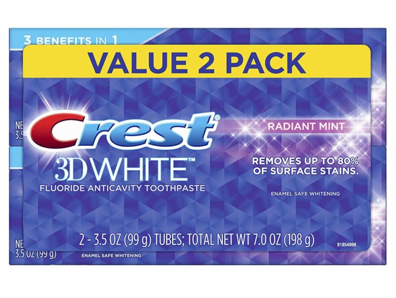 Crest 3D White Whitening Toothpaste 3.5-ounce Twin Pack
