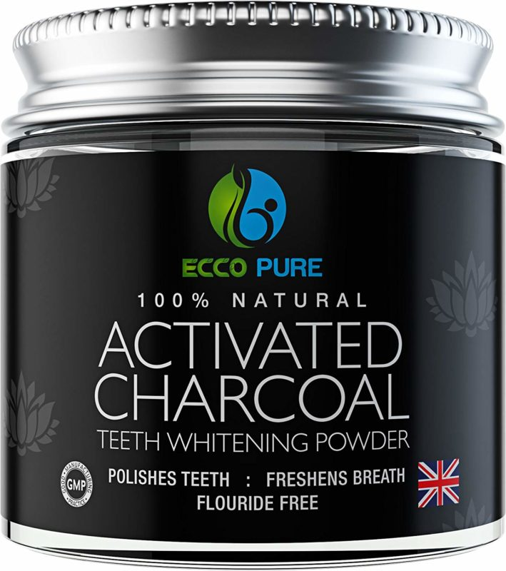 ECCO PURE Activated Charcoal Natural Teeth Whitening Powder