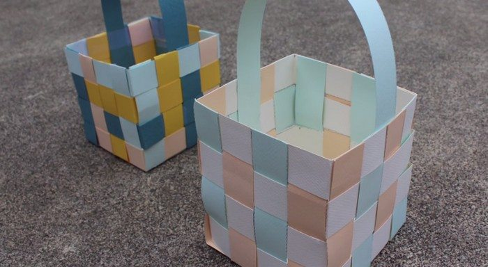 diy easter baskets from paper