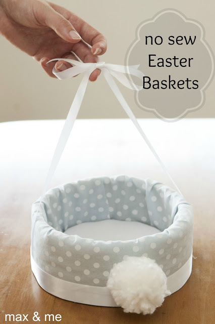 no sew diy easter basket