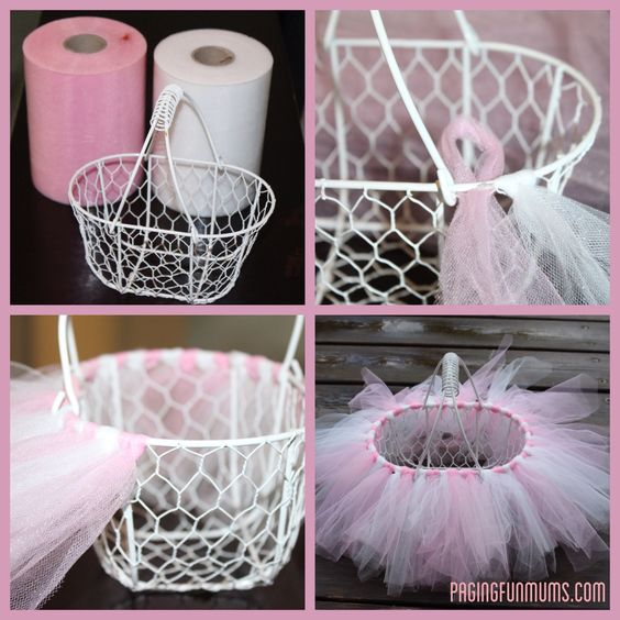 pink diy easter basket