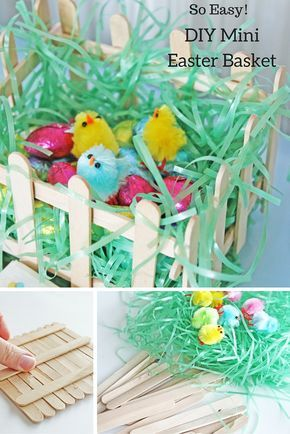 mini diy easter baskets