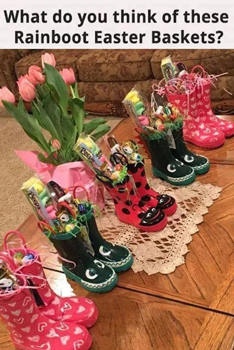 DIY easter basket boots