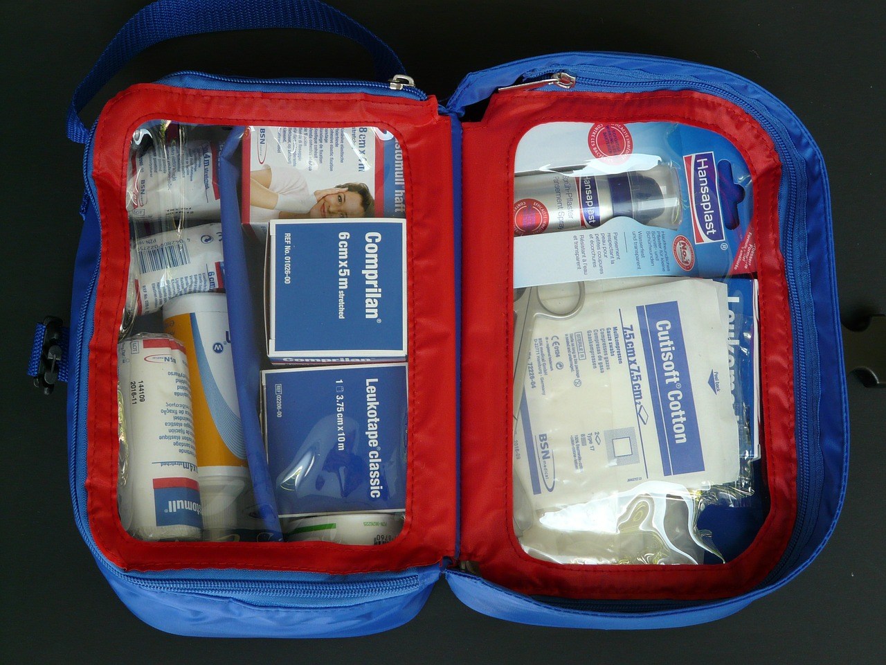 First Aid kit for bugging in