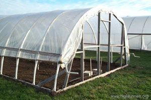 creating your own high tunnel from a wooden frame