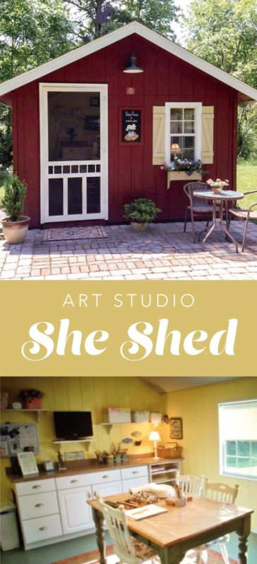 she shed ideas for an art studio