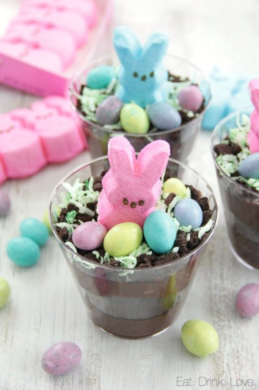 easter snacks cups