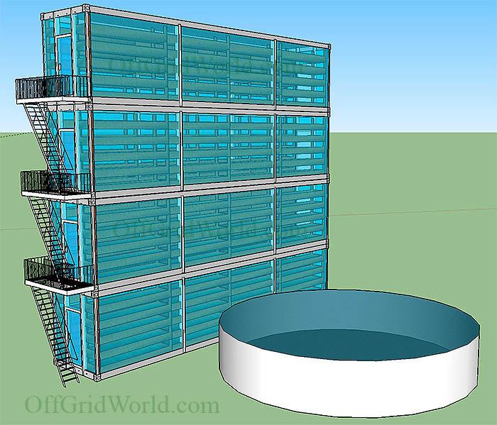 container aquaponics system