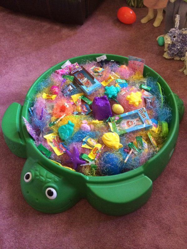 sandpit easter basket