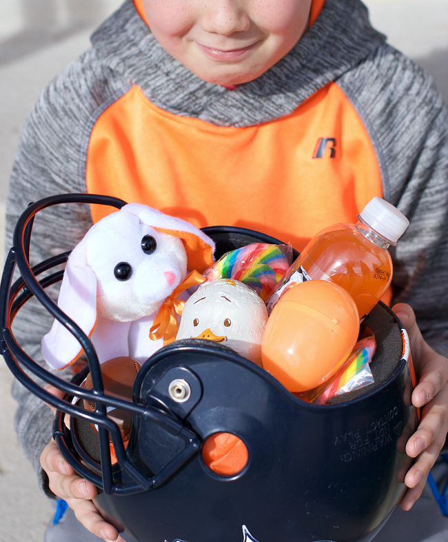 helmet easter basket