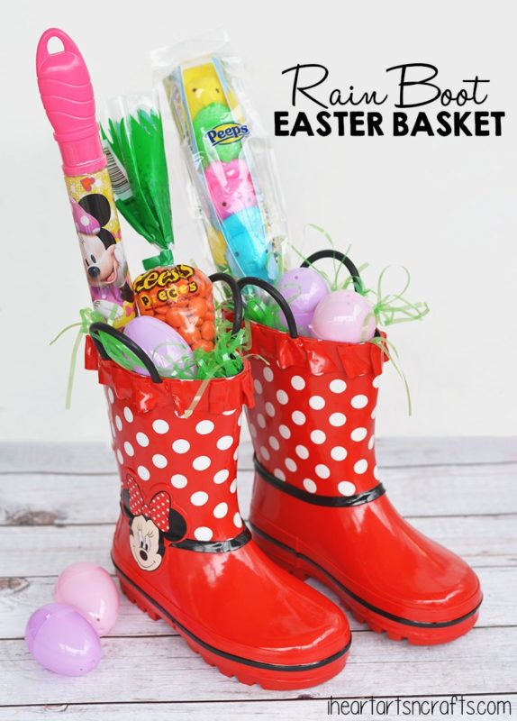rainboot easter basket ideas