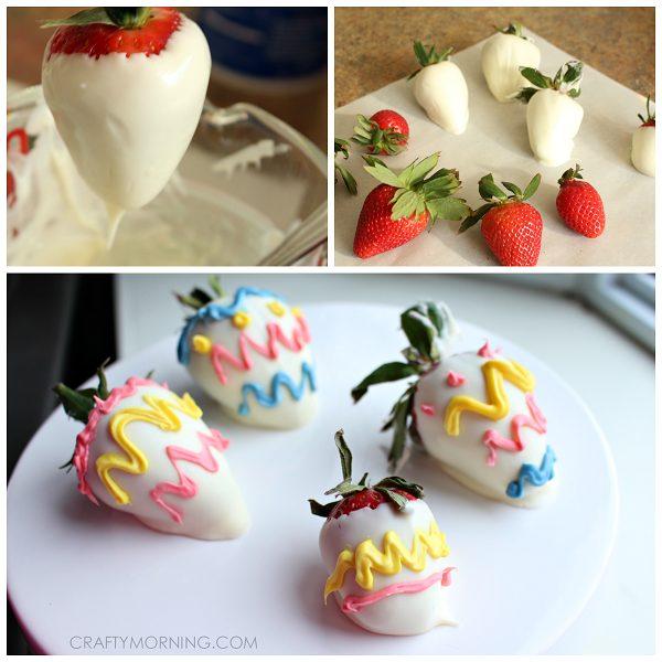 strawberry easter snacks