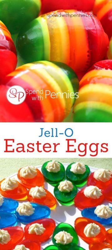 jell-o colorful easter snacks