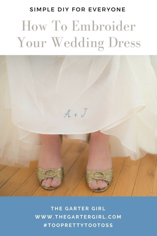how to embroider your wedding dress yourself