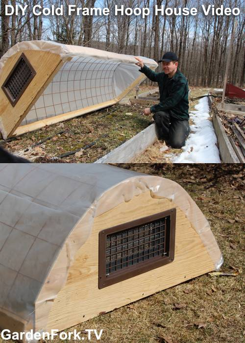 diy cold frames and a hoop house in one