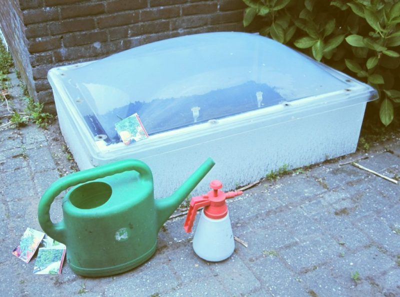 diy cold frames from a skylight