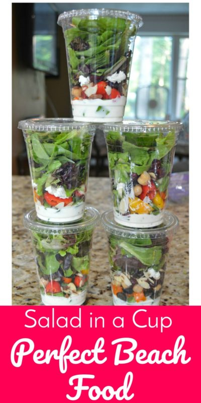 salads in a cup are remarkable picnic food ideas