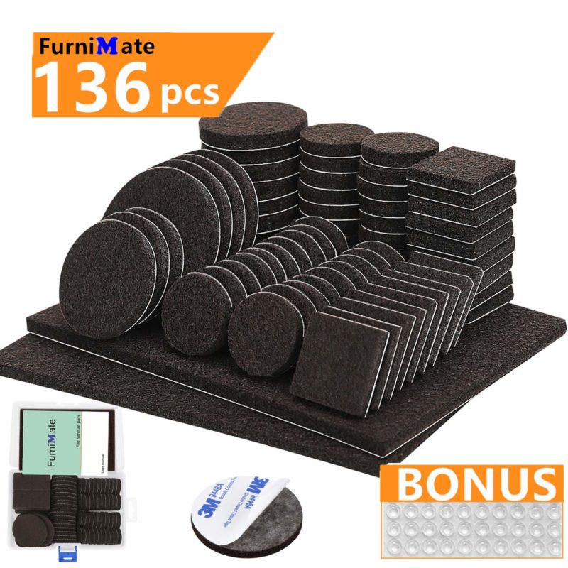 Furnimate 136-Piece Pack Furniture Pads