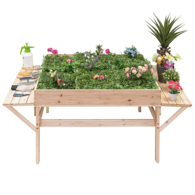 a salad table is perfect gardening for seniors