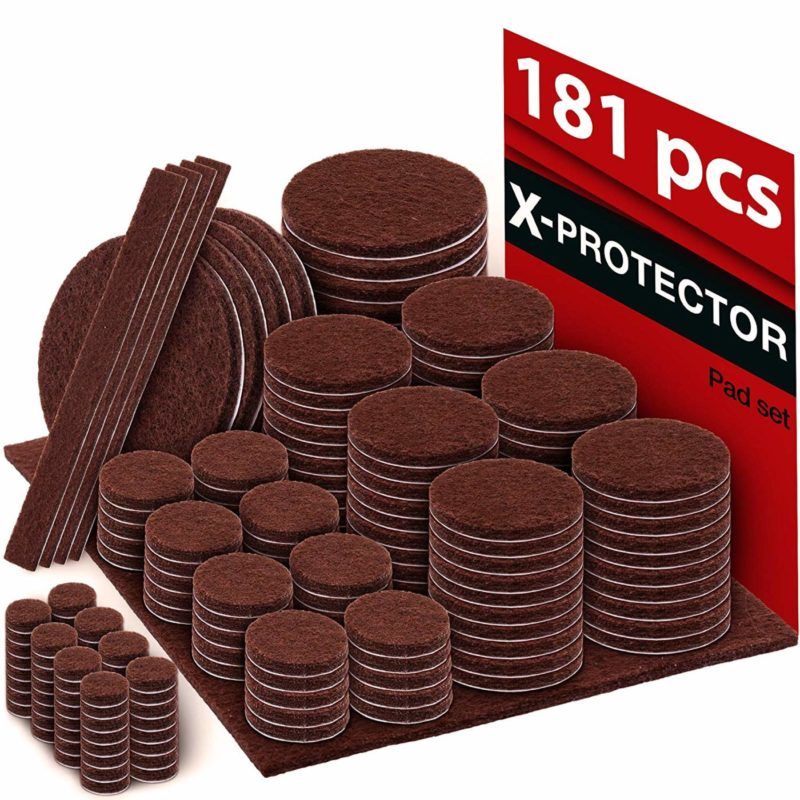 X-PROTECTOR 181-Pack Floor Protector Furniture Pads