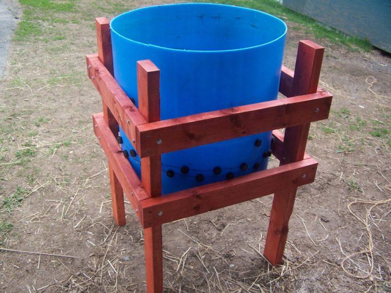 Barrel DIY chicken plucker