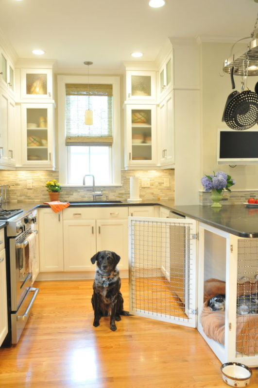 kitchen DIY dog crate
