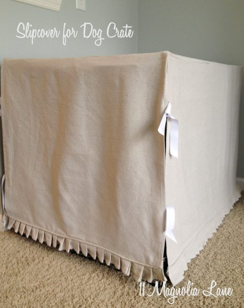 DIY dog crate cover