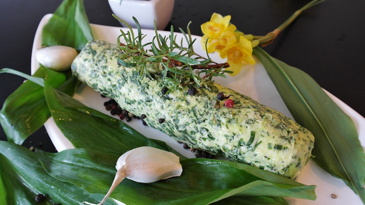using herbs in butter is excellent