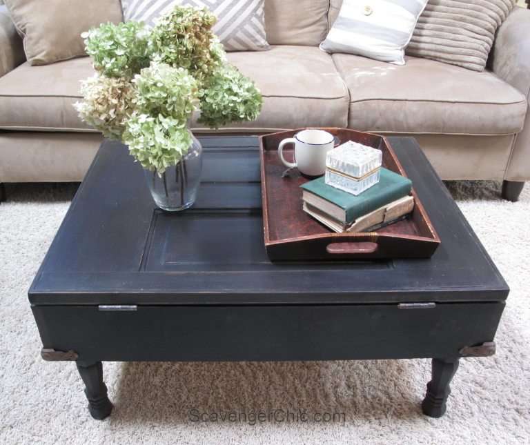 great old door ideas include a coffee table