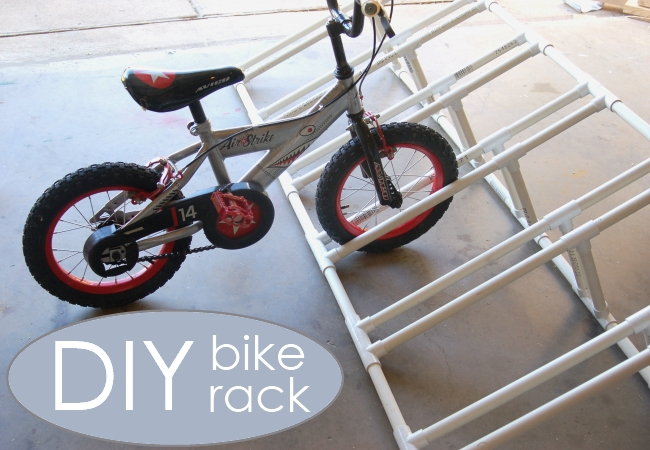 a Bike rack for PVC pipe projects