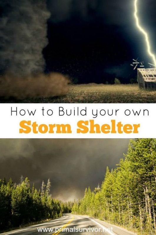 how to build your own storm shelter