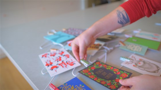 recycle hangers by using them to hang up decorative cards
