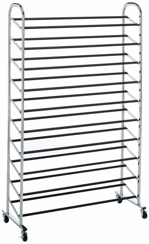 Whitmor 10-Tiered Rolling Shoe Tower Rack