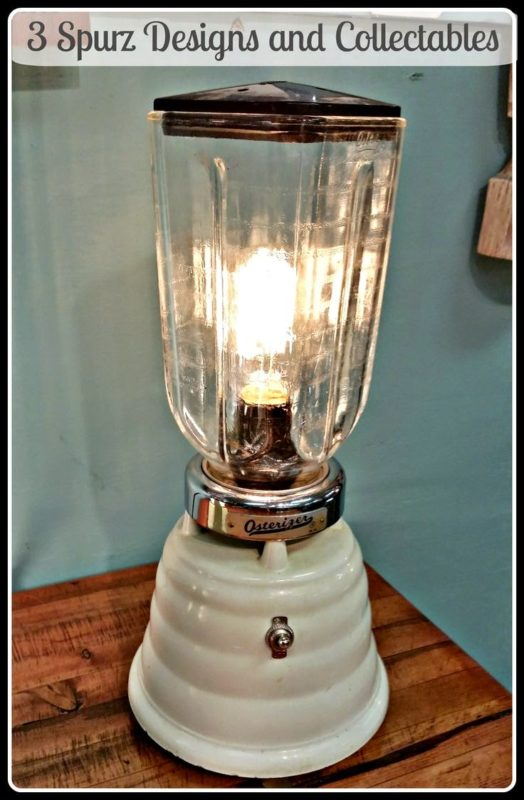 upcycle old appliances from a blender to a lamp