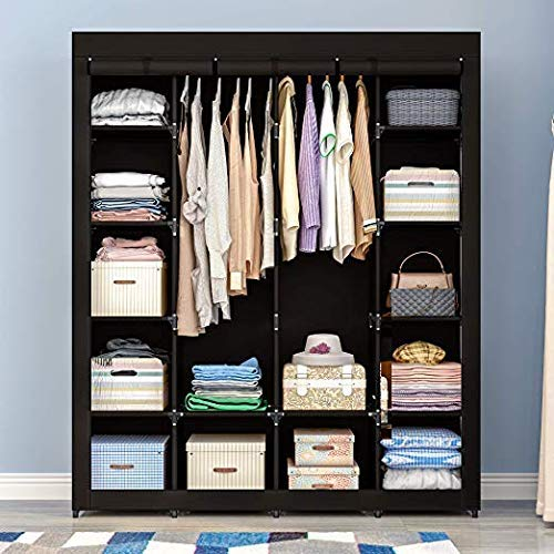 AOOU Covered Portable Closet Organizer Cabinet