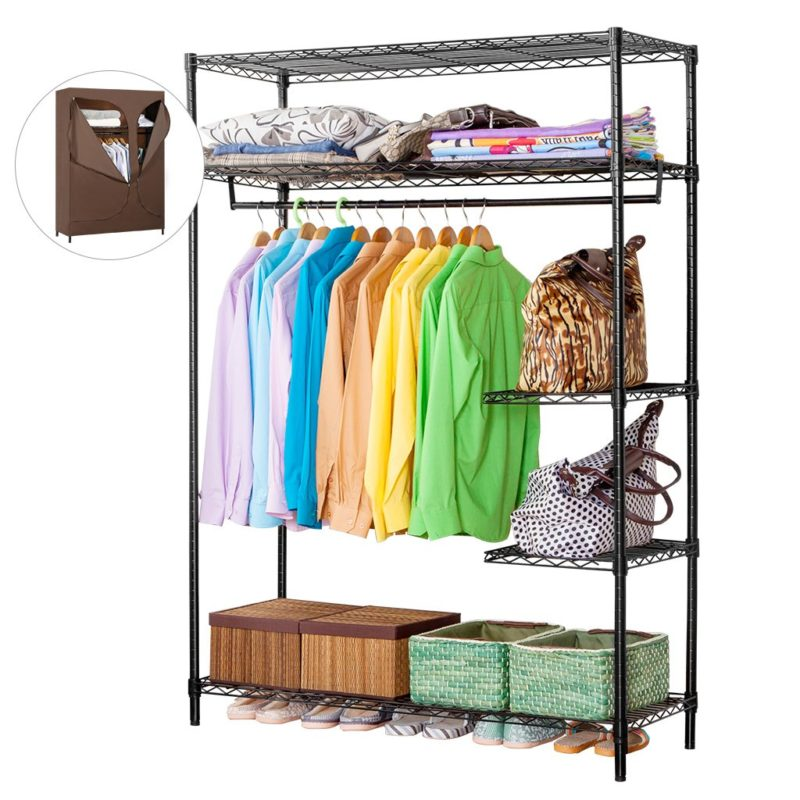 LANGRIA Portable Closet Clothing Rack Organizer
