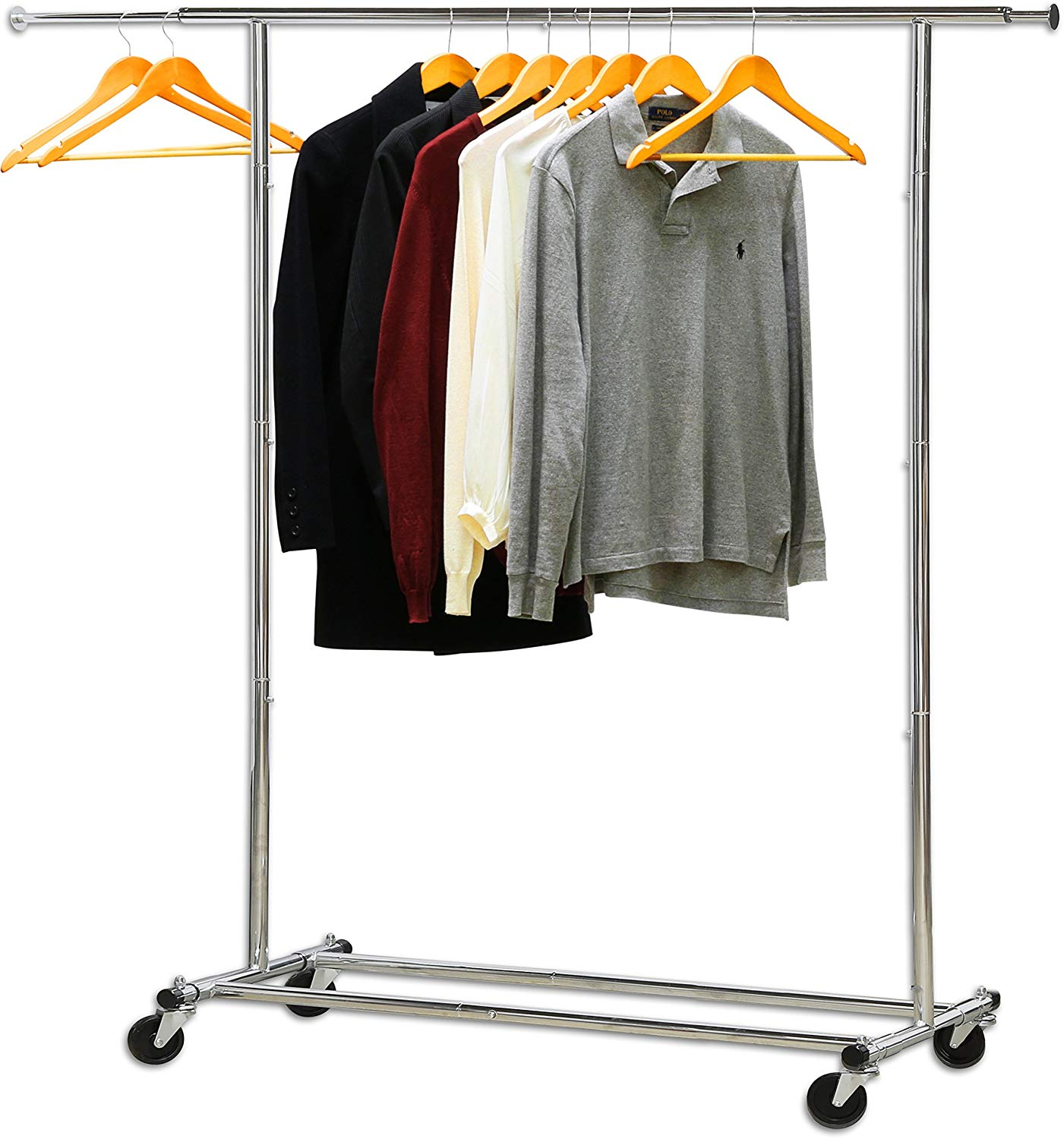 Simple Houseware Rolling Garment Hanging Rack